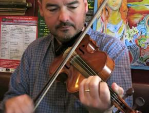 Seamus in a session (pic Noel O'Brien)